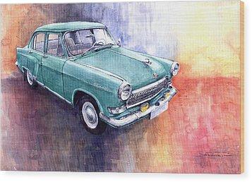 Gaz 21 Volga Wood Print by Yuriy  Shevchuk