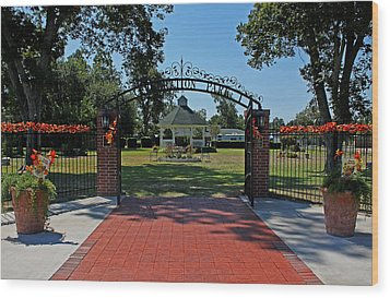 Wood Print featuring the photograph Gazebo At Celebration Park by Judy Vincent