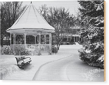 Gazebo At Windom Park Wood Print