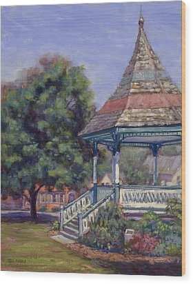 Gazebo New Boston Wood Print