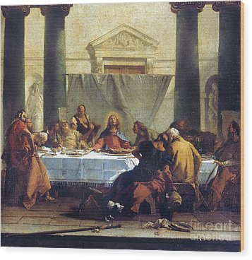 G.b. Tiepolo: Last Supper Wood Print by Granger