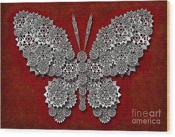 Gear Butterfly Wood Print