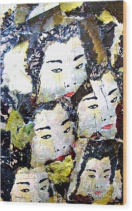 Geisha Girls Wood Print