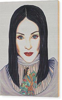 Geisha Walls Wood Print by Joseph Lawrence Vasile