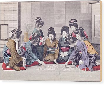 Geishas Wood Print by Delphimages Photo Creations