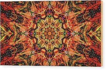 Gem Pattern Wood Print
