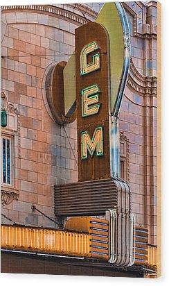 Gem Theater In Kansas City Wood Print