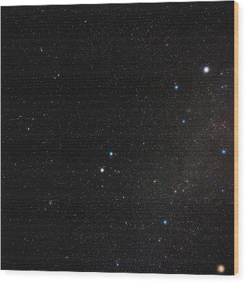 Gemini Constellation Wood Print by Eckhard Slawik