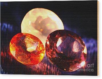 Gems Wood Print by Gaspar Avila