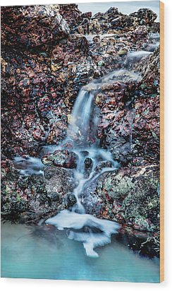 Wood Print featuring the photograph Gemstone Falls by Az Jackson