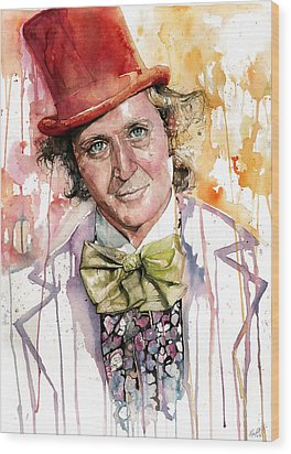 Gene Wilder Wood Print by Michael  Pattison