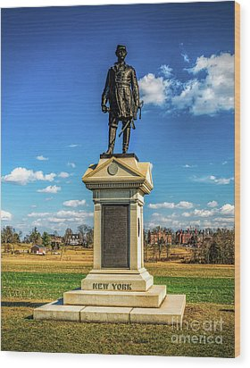 Wood Print featuring the photograph General Abner Doubleday - Gettysburg National Park by Nick Zelinsky