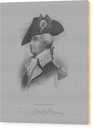 General Anthony Wayne Wood Print by War Is Hell Store