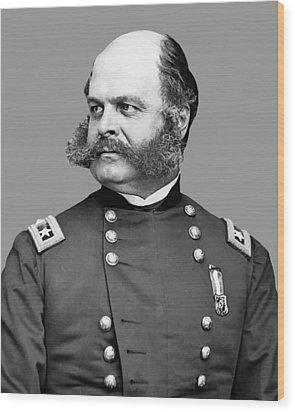 General Burnside Wood Print by War Is Hell Store