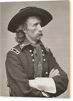 General Custer Wood Print by Bill Cannon