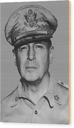General Douglas Macarthur Wood Print by War Is Hell Store