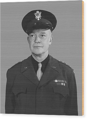 General Dwight D. Eisenhower Wood Print by War Is Hell Store