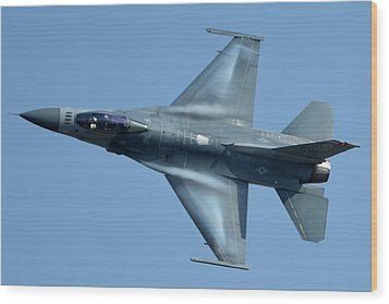 General Dynamics F-16c Block 50d Viper 91-0376 Chino California April 29 2016 Wood Print by Brian Lockett