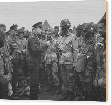 General Eisenhower On D-day  Wood Print