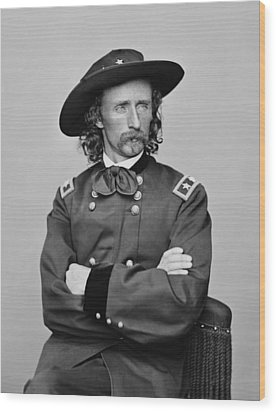 General George Armstrong Custer Wood Print by War Is Hell Store