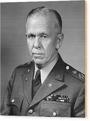General George Marshall Wood Print by War Is Hell Store
