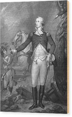 General George Washington At Trenton Wood Print by War Is Hell Store