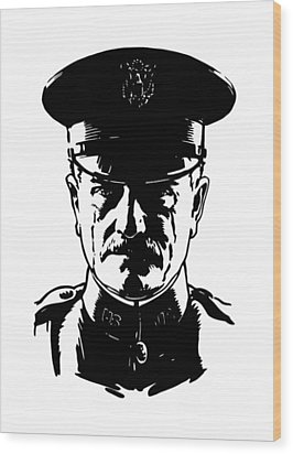 General John Pershing Wood Print by War Is Hell Store