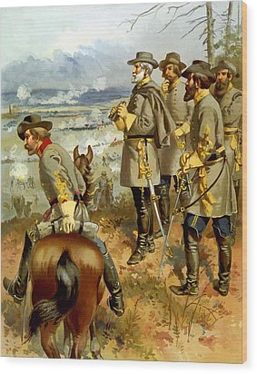 General Lee At The Battle Of Fredericksburg Wood Print by War Is Hell Store