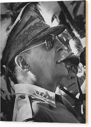 General Macarthur Wood Print by War Is Hell Store