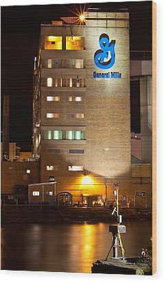 Wood Print featuring the photograph General Mills by Don Nieman