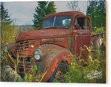 Wood Print featuring the photograph General Motors Truck by Alana Ranney