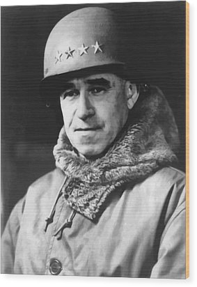 General Omar Bradley Wood Print by War Is Hell Store