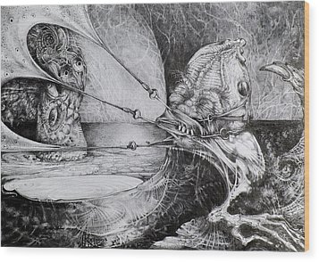 General Peckerwood In Purgatory Wood Print by Otto Rapp