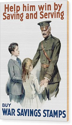 General Pershing - Buy War Saving Stamps Wood Print by War Is Hell Store