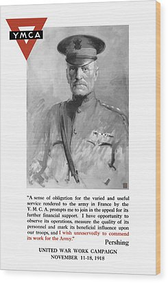 General Pershing - United War Works Campaign Wood Print by War Is Hell Store