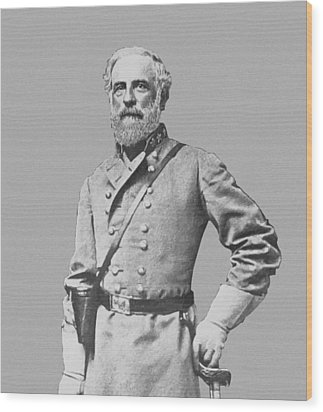 General Robert E Lee Wood Print by War Is Hell Store