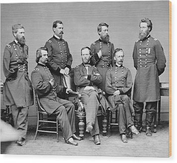 General Sherman And His Staff  Wood Print by War Is Hell Store