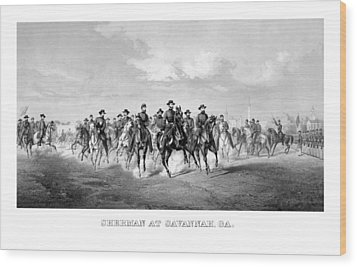 General Sherman At Savannah Wood Print by War Is Hell Store
