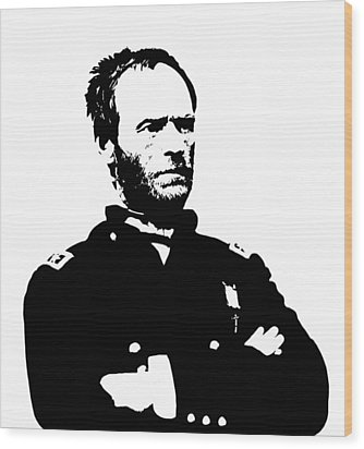 General Sherman Wood Print by War Is Hell Store
