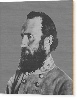 General Stonewall Jackson Wood Print by War Is Hell Store