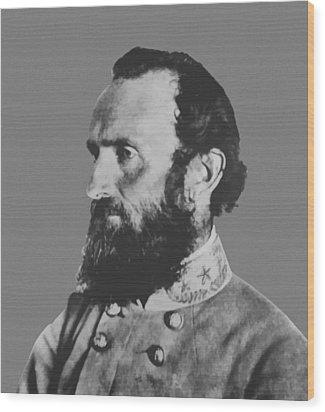 General Stonewall Jackson Wood Print