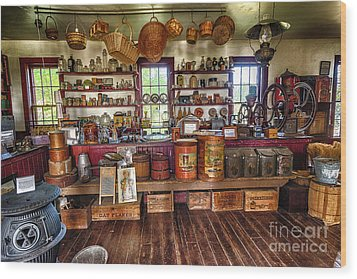 General Store Alive Wood Print