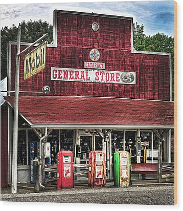 General Store Cataract In. Wood Print