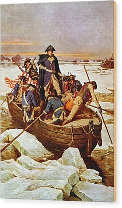 General Washington Crossing The Delaware River Wood Print by War Is Hell Store