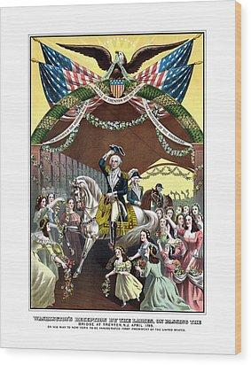 General Washington's Reception At Trenton Wood Print by War Is Hell Store