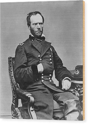 General William Sherman Wood Print by War Is Hell Store