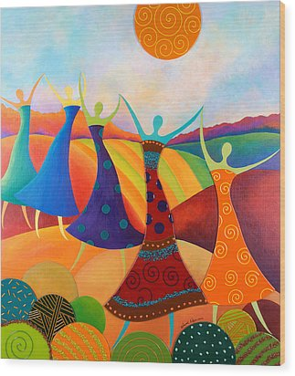 Generational Dance Wood Print by Anne Nye