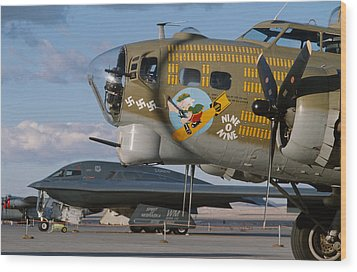 Generations B-17 And B-2 Wood Print by John Clark