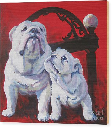 Generations Of Uga Wood Print by Pat Burns