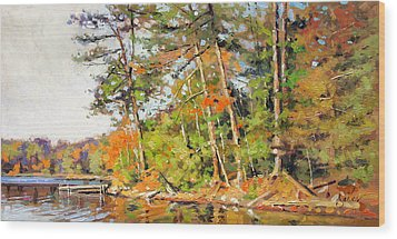 Generations Shore Wood Print by Larry Seiler